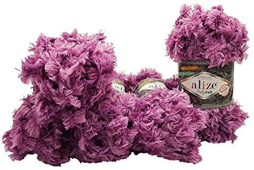 Ilkadim Alize Puffy Fur - Ovillo de lana para tejer (5 x...
