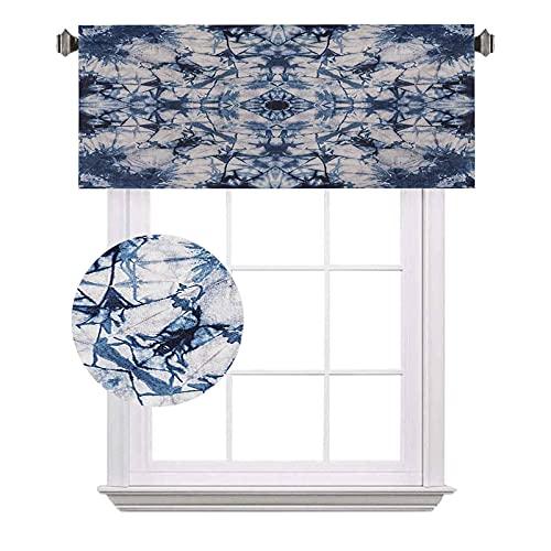 Cenefas psicodélicos de bolsillo para barra opaca, estilo antiguo caleidoscopio suelto, desplegable, con capas exteriores interiores, impermeables y lavables, para ventanas pequeñas, color gris índigo