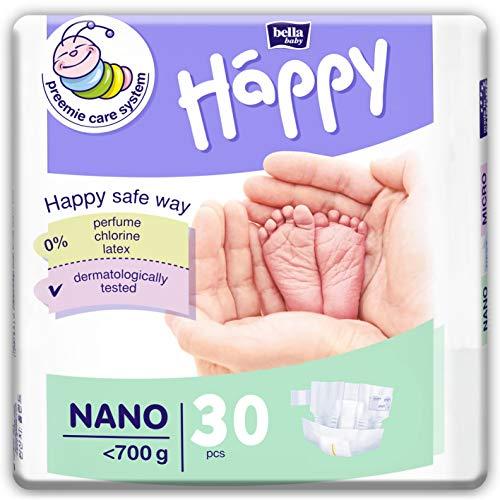 bella baby Happy Windeln Größe Nano <700 g, 3er Pack (3x30 Stück) für Frühgeborene mit besonderen Bedürfnissen