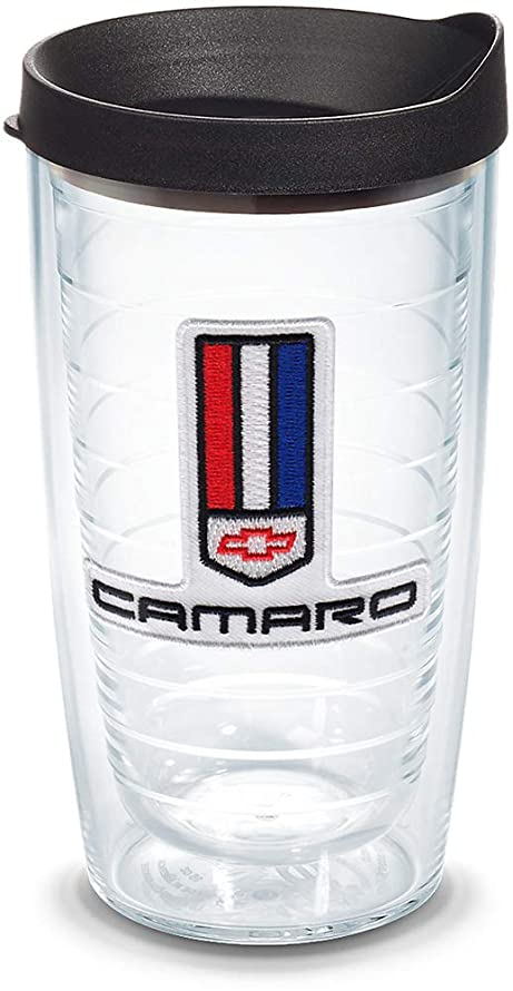 Tervis 1141684 Chevrolet - Camaro Tumbler with Emblem and Black Lid 16oz, Clear