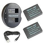 バッテリーパック Newmowa LP-E12 互換バッテリー 2個 + 充電器 セット Canon LP-E12 Canon EOS M M2 M10 M100 M200 EOS 100D EOS Rebel SL1 EOS KISS X7 EOS M50