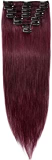100% Real Remy Clip in Hair Extensions 16-22inch Grade AAAAA Natural Hair Full Head Standard Weft 8 Pieces 18 Clips Long Smooth Soft Silky Straight(22