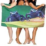 BEDKAGD - Toalla de baño (31 x 51 Pulgadas, Alta absorción, diseño de Rana venenosa, Ligera, tamaño Grande, para Playa, SPA, Piscina, Gimnasio, Viajes)