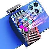 DEKSMO Fun Cooler for Mobile Phone,Phone Cooler Radiato Smartphone Phone Cooler Radiator for iPhone iOS/Android Gaming Semiconductor Heatsink Cell Phone Cooling Fan Mobile Radiator Cooling (Black)