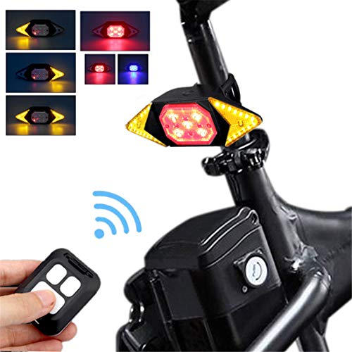 Bike Tail Light with Turn Signals Wireless Remote Control Red