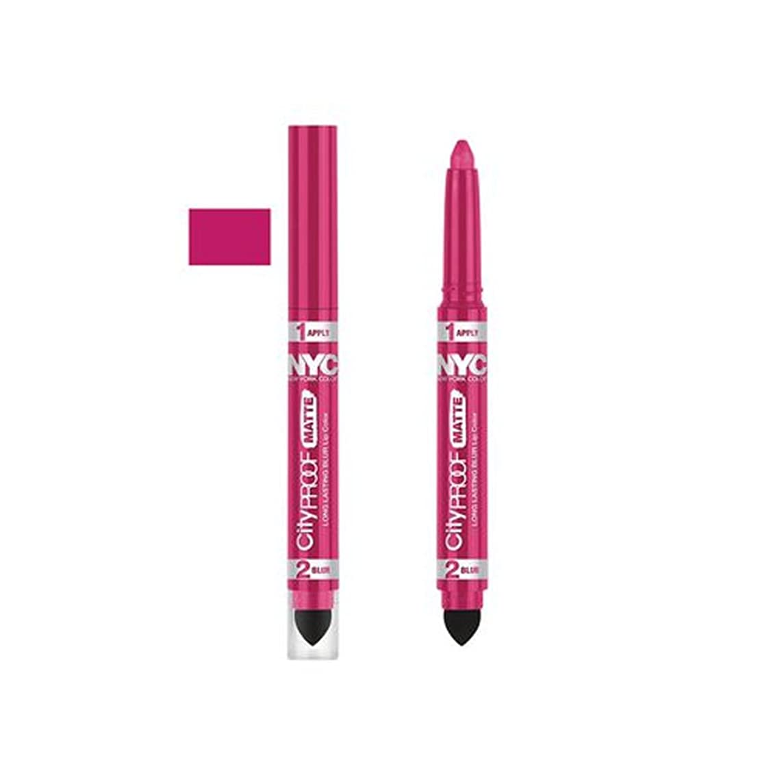 感心する依存リボン(6 Pack) NYC City Proof Matte Blur Lip Color - Fashion Fuchsia (並行輸入品)
