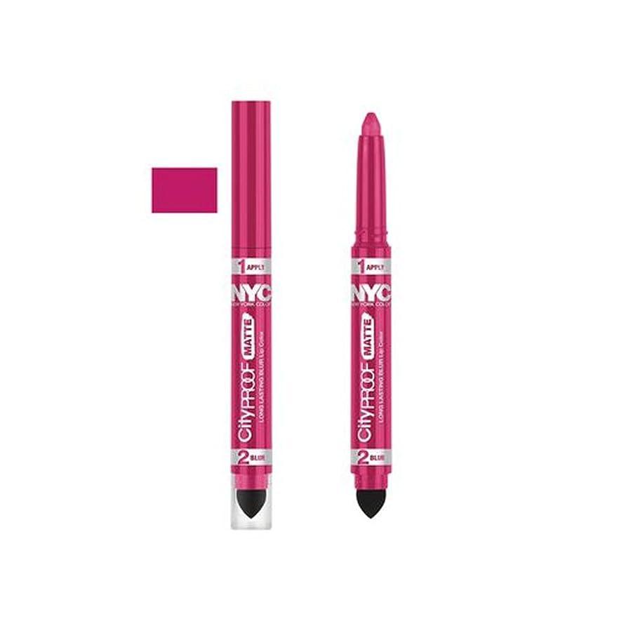 迫害くるくるオゾン(6 Pack) NYC City Proof Matte Blur Lip Color - Fashion Fuchsia (並行輸入品)
