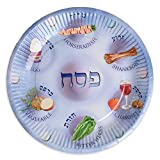Paper Plates for Passover, 25 Paper Seder Plates, Disposable Pesach Plates for Kids.