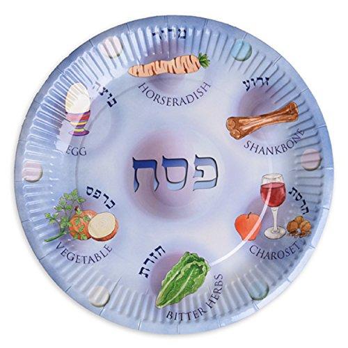 Cazenove Pappteller für Pessach, Papier Seder Teller, Pessach Teller für Kinder, Papier, Pack of 25