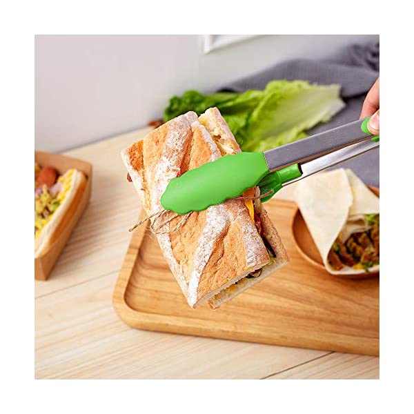 HiramWare Kitchen Tongs (Green) 4