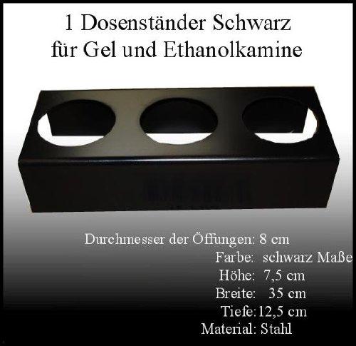 Cheminées Allemande Socle en Métal Noir/Diamètre des ouvertures: 10cm