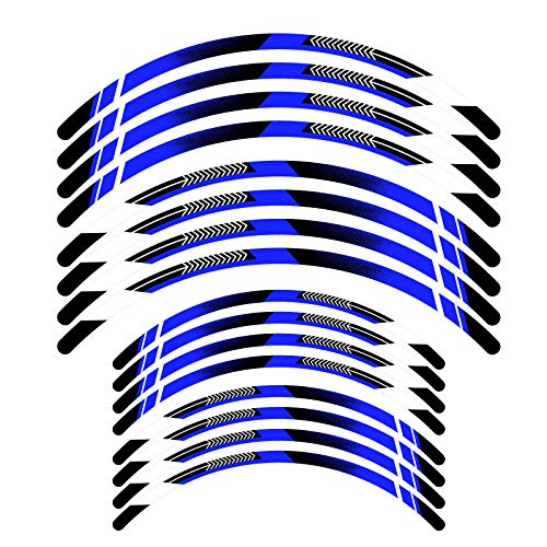 KETABAO Dirt Bike Rim Tape A01 Decals Stickers Protector 21 19 inch For Yamaha YZ 250F 450F YZ125 YZ250 19 20 (Blue)