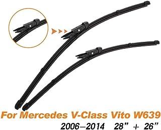 For Mercedes Vito W638 2622 1 Juego Goma Parabrisas Rascador Mercedes V KLASAW Item Length : 26 and 22