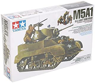 Tamiya 1/35 Military Miniature Series No.313 US Army Light Tank M5A1 hedgehog chase strategy set doll with 4-body plastic ...