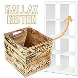 2x geflammte Vintage-Holzkiste für Kallax und Expedit Regal