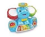 Questo divertente centro attività musicale ricco di canzoni, melodie, suoni e strumenti, appositamente studiato per introdurre il bambino nel mondo della musica L'elefantino ha due orecchie tamburo, una colorata tastiera, due piatti, una maracas mecc...