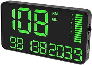 Velocímetro universal de GPS HUD digital, C90 Pantalla de visualización en pantalla grande de 5,5 pulgadas con exceso de velocidad Advertencia del reloj del coche cuentakilómetros para coche universal