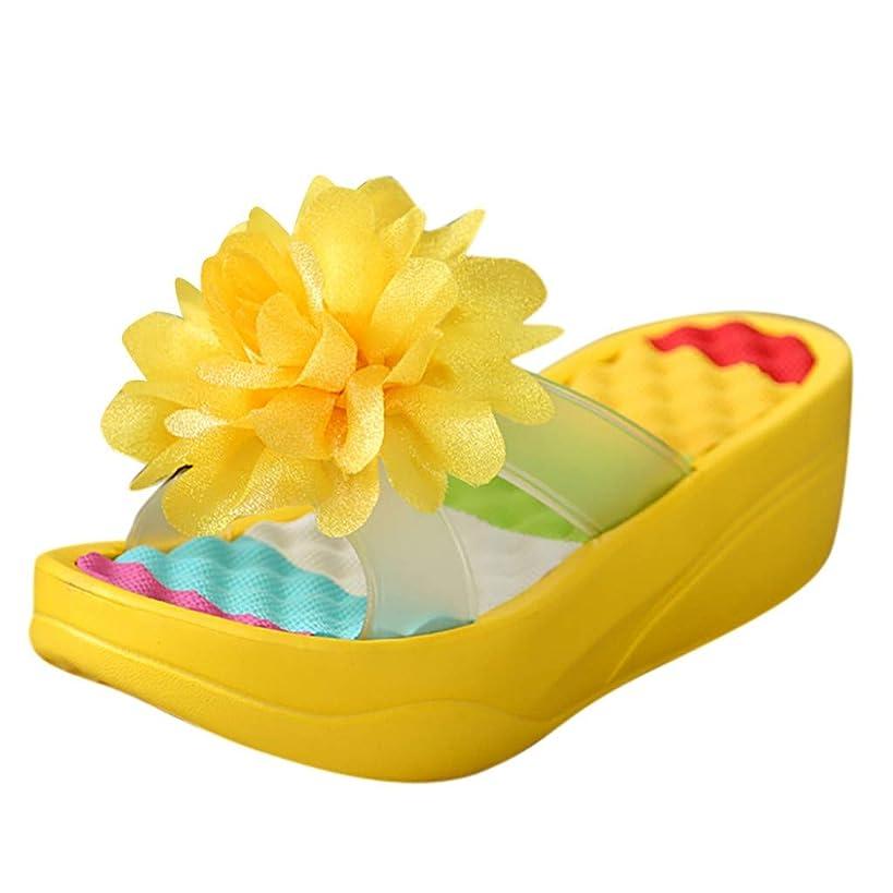Sunhusing Summer Platform Sandals Flip Flops Slippers Sandals Swing Wedge Women Hole Flower Shoes