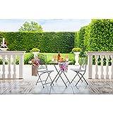 Set da Giardino//Balcone in Legno Massiccio Disponibile in 2 disposizioni Diverse 1 x Tavolo; 2 x sedie AVANTI TRENDSTORE
