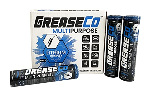Bearing Grease | Multi Purpose | Lithium Grease Cartridge | Blue | EP Lube | Automotive | Tractor | High Temp | Wheel | Axle | Joint | Grease for Grease Gun | 10 Pack of Tubes | NLGI 2 | MultiPurpose