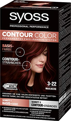 Syoss Contour Color 3-22 Maulbeere, 1er Pack (1 x 183 ml)