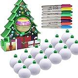TAIPPAN Christmas Tree Pendants, Maker Pen DIY Painting Balls, Magic Musical Refill Kit