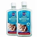 Nilco Hand Sanitiser Antibacterial Hand Sanitising Gel 500ml x 2 Bottles