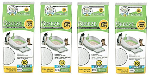 Tidy Cat Breeze Pads, 10 Count (Pack of 4)