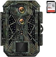 HAPIMP Wildkamera 4K 32MP mit Bewegungsmelder Nachtsicht Wildtierkamera 0,1s Auslösegeschwindigkeit Abzugsentfernung Bis...