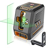Satawell Laser Level, Self-Leveling Laser Line Adjustable Lightness Line 100Ft Cross Laser Level with Magnetic Base for Construction Picture Hanging Wall Painting Home Renovation(Green Beam)