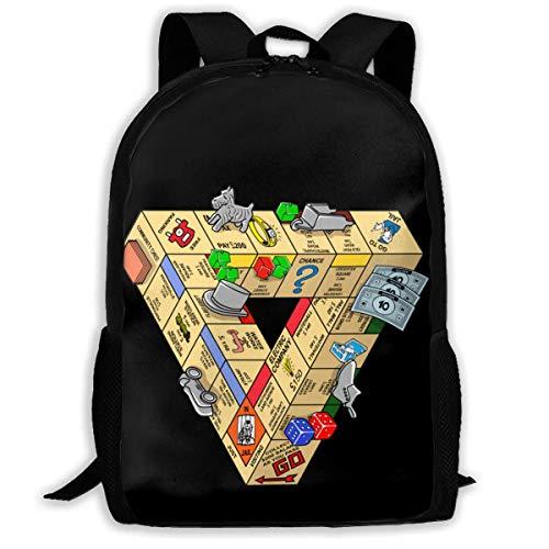 JNMJK Unisex-Rucksack für Erwachsene mit hoher Kapazität Die unmögliche Brettspiel-Büchertasche Reisetasche Schultaschen Laptoptasche