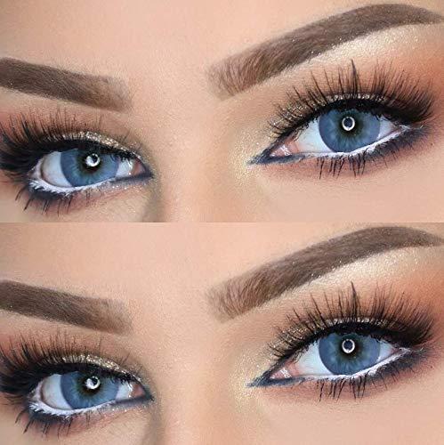 Farbige Kontaktlinsen DUBAI NIGHTS die schönsten Farblinsen für orientalische, braune Augen ohne Stärke (Nachtblau)