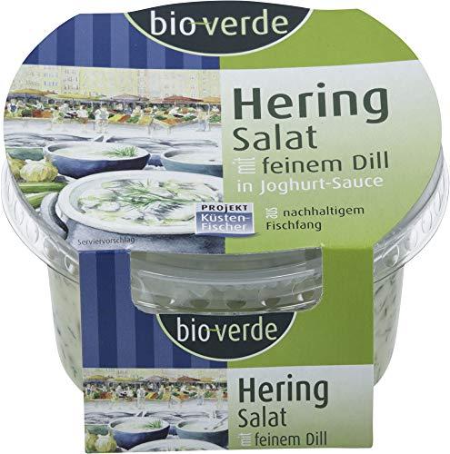 bio-verde Bio Küstenfischer Herings-Salat mit Dill in Joghurt-Sauce, Naturland-Wildf (6 x 150 gr)