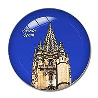 スペインサンサルバドル大聖堂オビエド冷蔵庫マグネットホワイトボードマグネットオフィスキッチンデコレーション