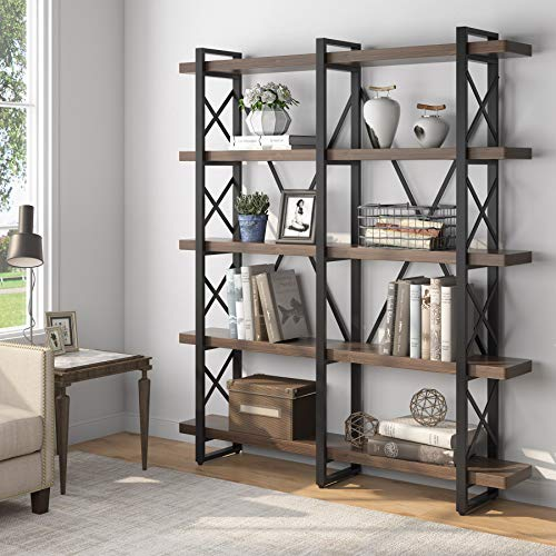 Tribesigns Solid Wood 5-Shelf In...