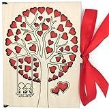 Grußkarte Aus Holz I Handgefertigte I Geschenkkarten Mit Umschlag I Hochzeitskarte I Weihnachtskarte I Geburtstagskarte I Glückwünschekarte I Muttertagkarte I Design Karte Mit Baum