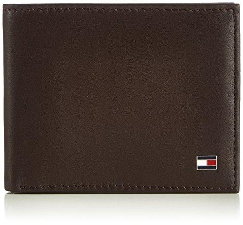 Tommy Hilfiger Eton Mini CC Wallet, Cartera para Hombre, Brown 204, 11x9x2 cm (B x H x T)