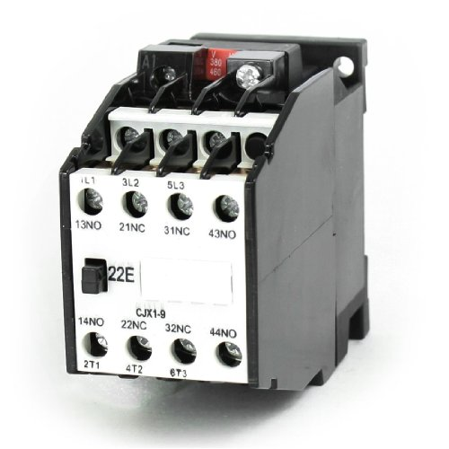 Aexit CJX1-9 AC Distribution electrical Contactor 380V 50Hz Coil 9A 3-Phase 3-Pole 2NO + 2NC