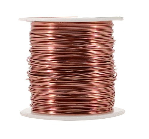 Mandala Crafts Anodized Aluminum Wire for Sculpting, Armature, Jewelry Making, Gem Metal Wrap, Garden, Colored and Soft, 1 Roll(20 Gauge, Copper Tone)