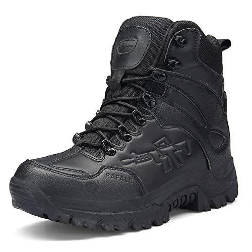 AONEGOLD Hommes Bottes de Randonnée Tactiques Militaires de Combat Bottes Chaussures de Trekking extérieures Respirantes Antidérapant