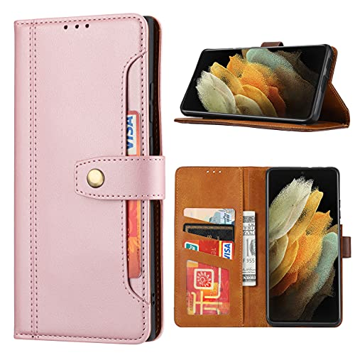 SHIEID para Huawei P30 Pro Funda [Cierre Magnético] Carcasa de Cuero Genuina Cartera [Soporte]+[Tarjetas Ranuras] Funda para Huawei P30 Pro, Rosa