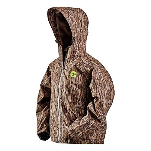 Gator Waders Insulated Youth Hunting Jacket, Mossy Oak Bottomland, Large – Waterproof - Fleece Lining and Waterproof Shell