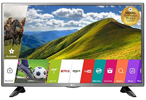 LG 80 cm (32 Inches) HD Ready LED Smart TV 32LJ573D (Silver) (2017 model)