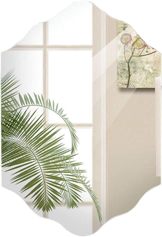 YONGMEI Bathroom Mirror Bedroom Mirror Wall Mirrorn no Frame Mirror Washbasin Mirror (Size   45  60cm)