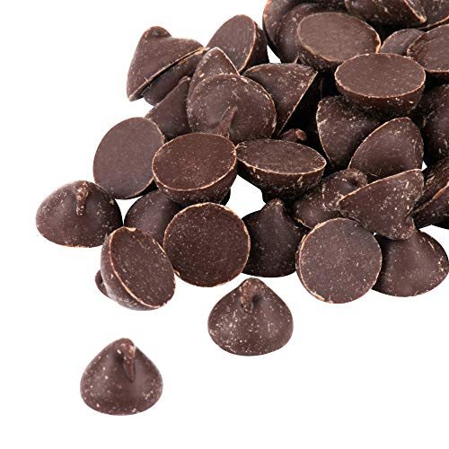 Semi-Sweet Real Chocolate Baking Chips, 1000 Count Per Pound, 25lb, 400 Ounces, Gluten Free, Kosher (25 Pound)