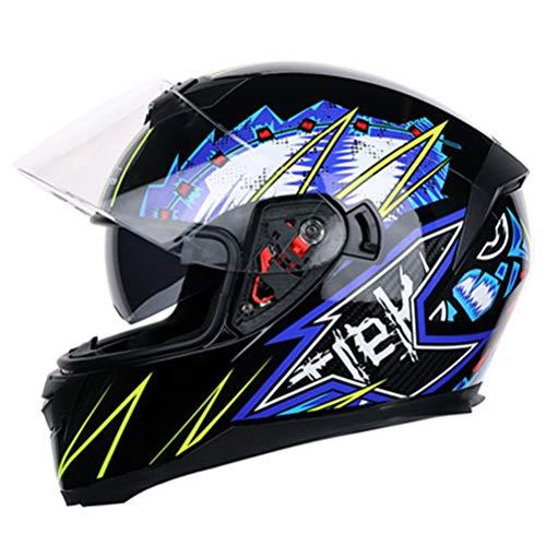 Helm Full Face Bike Flip Up Motorradhelm Motocross Racing Anti-Fog Sonnenblende Casque Moto Helm