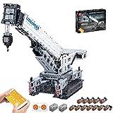 KEAYO Técnica Liebherr Kgrúa LTR 11200, Mould King 17002, grúa de oruga grande con motor, 4000 piezas, bloques de sujeción, compatible con la técnica Lego