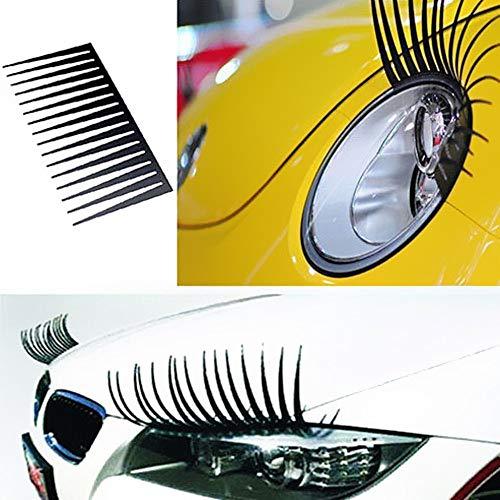 Tragbarer Treteimer abnehmbare Deckel Ist 2ST netten reizende Auto-Scheinwerfer-Wimper-Aufkleber-3D Dekoration LKW-Beleuchtung Auto-Abziehbild-Auto Styling Exterior Zubehör Hanging Abfalleimer Klapp