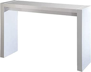 """Neos Modern Furniture BT1200WH Modern Contemporary Wooden Bar Table, 60"""", White"""