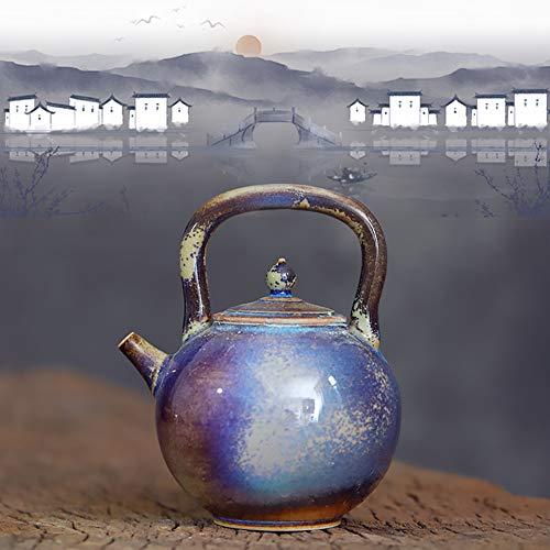MINBAO Chinesische Kunst Natürlich Glasierte Keramik Teekanne, Orientalische Sammlerstücke, Hauptdekorationen, Geeignet Für Nachmittagstee, Geschenk Für Eltern Und Freunde